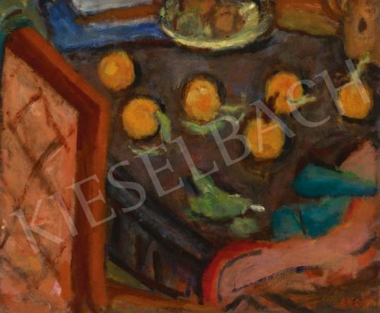 Czóbel Béla - Narancsos csendélet, 1920-as évek vége | 61. Tavaszi Aukció aukció / 34 tétel