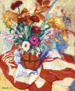 Vass, Elemér - Still Life with Dahlia, 1931