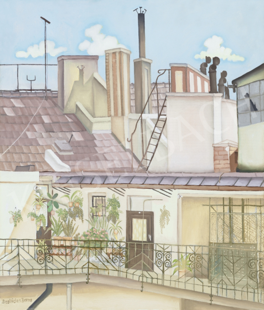 Basilides Barna - Nálunk a hatodik emeleten | 61. Tavaszi Aukció aukció / 40 tétel