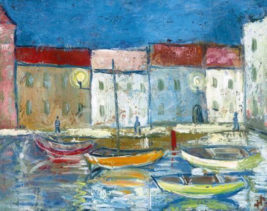 Simon György János - Mediterrán kikötő (Galargo) | 61. Tavaszi Aukció aukció / 41 tétel