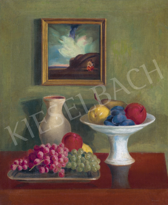 Mund Hugó - Műtermi csendélet őszi gyümölcsökkel, 1920-as évek eleje | 61. Tavaszi Aukció aukció / 49 tétel
