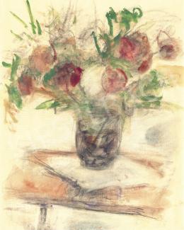 Czóbel Béla - Csendélet rózsákkal, 1950