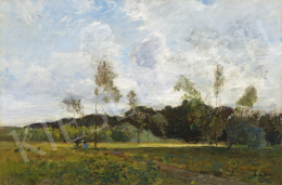 Paál, László - French Landscape with Bright Clouds, around 1871