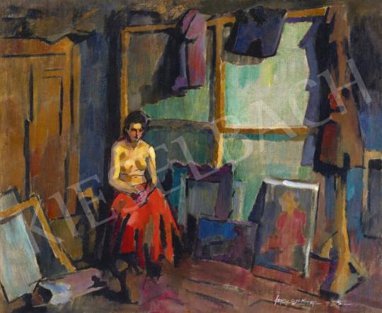 Nagy, Oszkár - Model in the Artist's Studio in Nagybánya, 1935   61st Spring Auction auction / 115 Lot