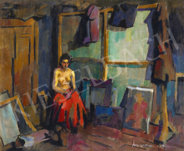 Nagy, Oszkár - Model in the Artist's Studio in Nagybánya, 1935