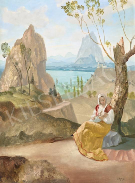 Molnár C. Pál - Itáliai táj | 61. Tavaszi Aukció aukció / 127 tétel