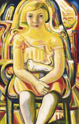 Kohán György - Kislány galambbal, 1930-as évek