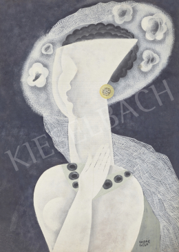 Kádár, Béla - Young Girl with Art Deco Earrings