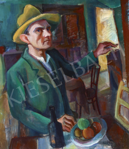 Kmetty, János - Self-Portrait with Still Life, 1920s