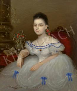 Munkácsy Mihály - Fiatal leány portréja (Jankovich Gabriella?), 1864