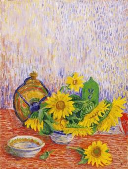 Czimra, Gyula - Still Life of Sunflowers