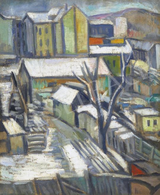 Schönberger Armand - Nagyváros télen | 61. Tavaszi Aukció aukció / 184 tétel