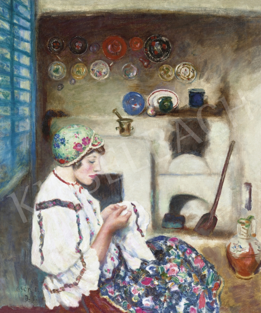 Csók, István - Embroiderer Girl | 61st Spring Auction auction / 187 Item