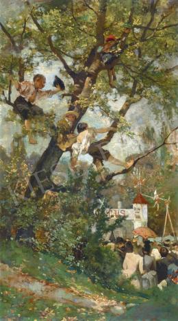 Ismeretlen festő, 19. század vége - Vásári mulatság