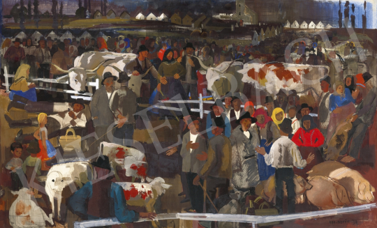 Aba-Novák, Vilmos - Market, 1934 | 61st Spring Auction auction / 195 Item