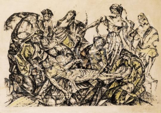 Perlrott Csaba Vilmos - Bibliai jelenet | 13. Aukció aukció / 6 tétel