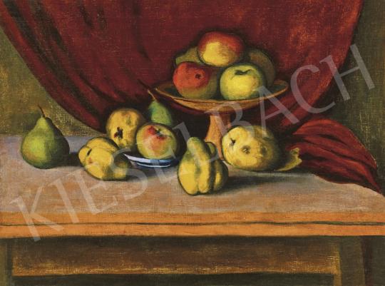 Orbán Dezső - Műtermi csendélet almákkal, körtékkel, birsalmákkal | 61. Tavaszi Aukció aukció / 198 tétel