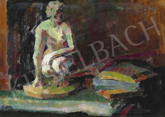 Nagy Oszkár - Csendélet könyvvel, 1958 | 61. Tavaszi Aukció aukció / 201 tétel