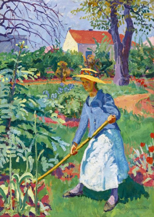 Ziffer Sándor - Kertészlány, 1912-1914 között | 61. Tavaszi Aukció aukció / 211 tétel