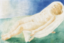 Ágh Ajkelin,  Lajos - On the Lake(side), 1930s