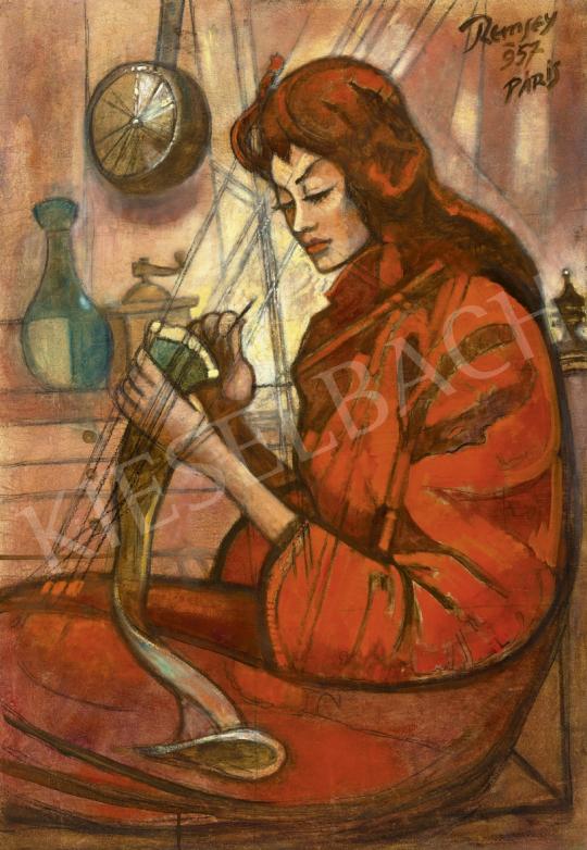 Remsey Jenő György - A vörös ruhás lány, 1957 | 61. Tavaszi Aukció aukció / 120 tétel