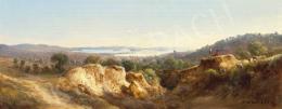 Ifj. Markó Károly - Itáliai táj háttérben tengerparti várossal, 1871