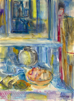 Paizs-Goebel, Jenő - Parisian Studio Still Life with Mirror, 1945