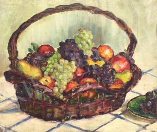 Eladó Ismeretlen festő - Gyümölcskosár festménye