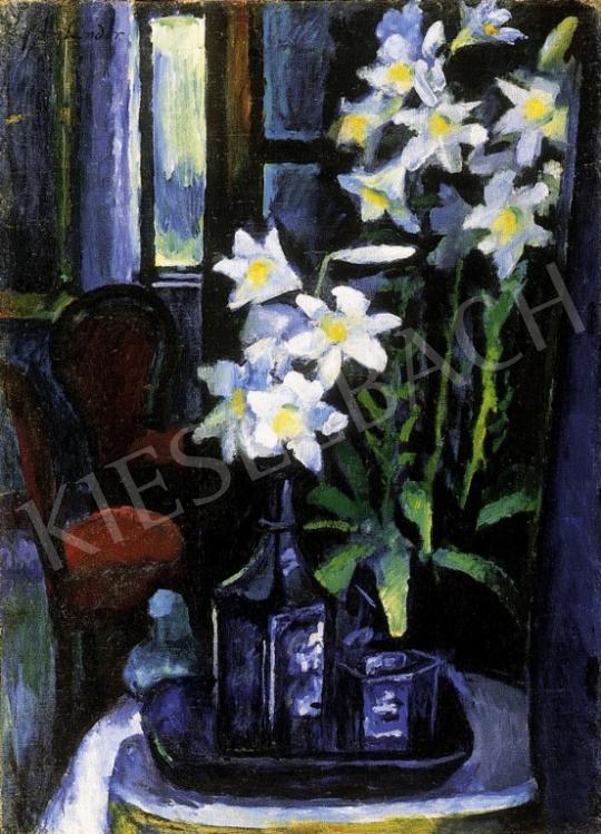Ziffer Sándor - Csendélet liliomokkal | 13. Aukció aukció / 10 tétel