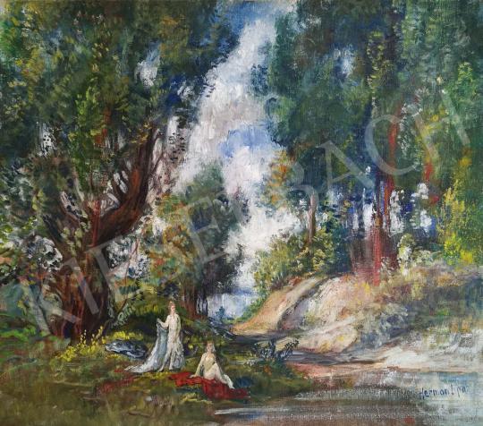 Eladó  Herman Lipót - Fürdőzők festménye