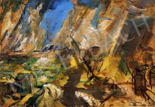 Egry József - Vihar a Balatonon, 1921 körül | 13. Aukció aukció / 11 tétel