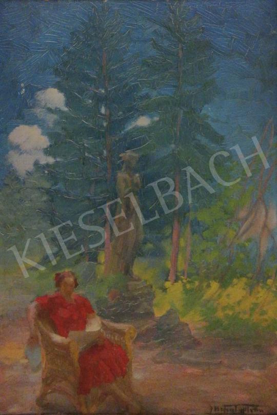 Eladó  Mihály István - Olvasó nő a természetben festménye