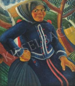 Szaday Lajos - Sokác asszony kék blúzban