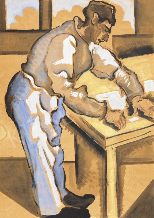 Scheiber, Hugó - In the Studio painting