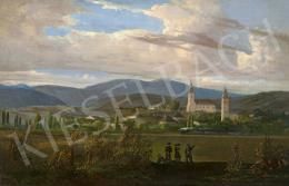 Jakobey Károly - Tokaj melletti táj gőzmozdonnyal (Tarcal), 1859