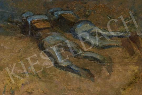 Eladó Mednyánszky László - Lövészárokban (Fedezékben) festménye
