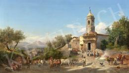 Ifj. Markó Károly - Itáliai táj (Firenze mellett), 1882