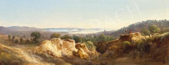 Eladó Ifj. Markó Károly - Itáliai táj háttérben tengerparti várossal festménye