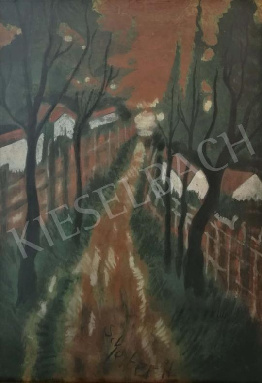 Eladó  Scheiber Hugó - Út a fák között festménye