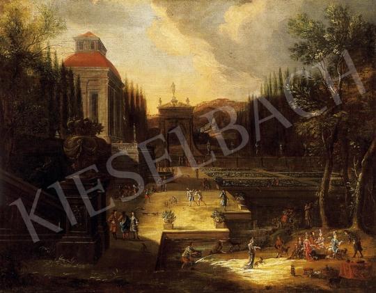Ismeretlen flamand festő, 18. század - Mulatság a kastélyparkban | 13. Aukció aukció / 18 tétel