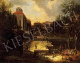 Ismeretlen flamand festő, 18. század - Mulatság a kastélyparkban