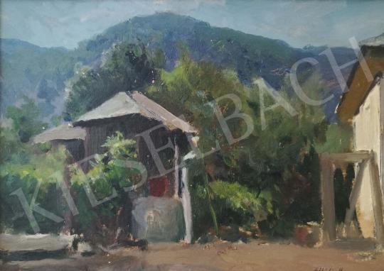 For sale  Edvi Illés, Aladár - Yard in the Highlands 's painting