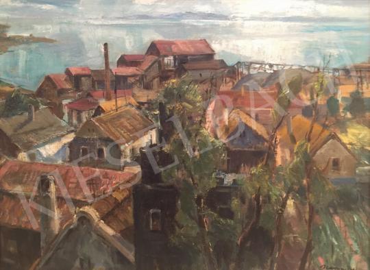 Eladó Udvary Pál - Rálátás a Balatonra Badacsonytomajnál festménye