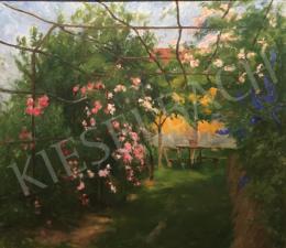 Benkhard Ágost - Rózsalugas (Virágos kert), 1957