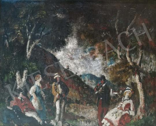 Eladó  Rudnay Gyula - Társaság a szabadban festménye