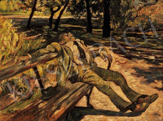 Scheiber Hugó - Parkban, 1920-as évek eleje | 13. Aukció aukció / 20 tétel