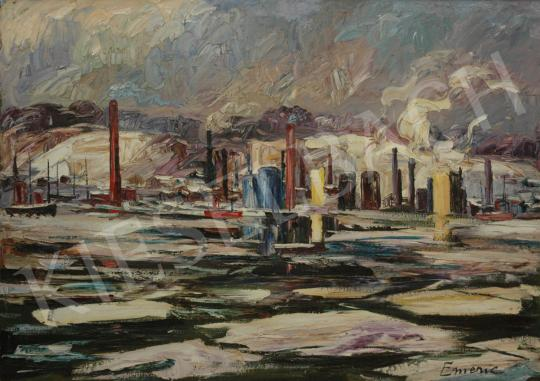 For sale  Emeric - Hudson in winter, 1960 's painting