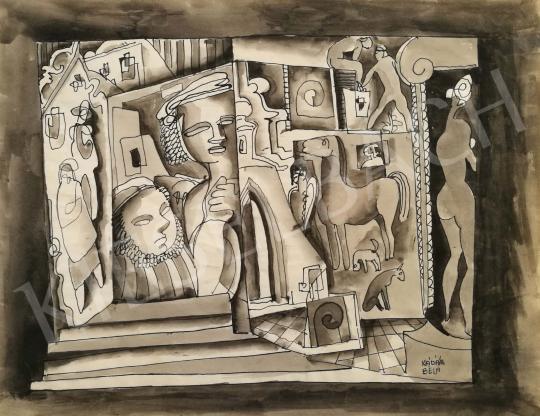 For sale  Kádár, Béla - Figures 's painting