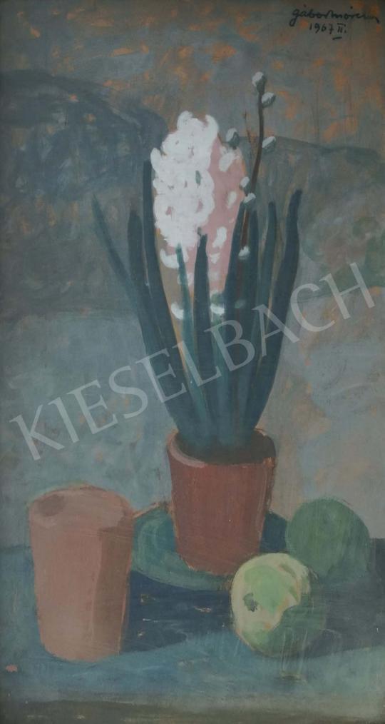 For sale  Gábor, Móric - Hyacinths and apples 's painting