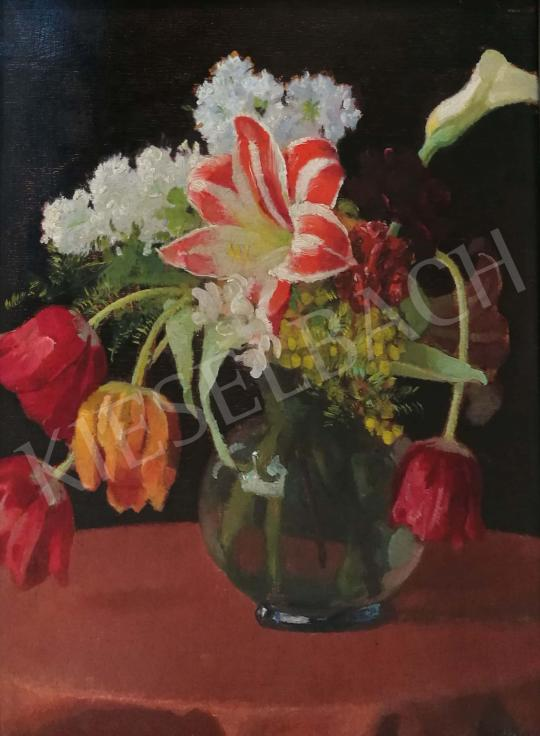 For sale Vidovszky, Béla - Flowers in Glass Vase 's painting